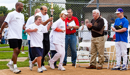 Tom Golisano Cheers on Special Olympics athletes